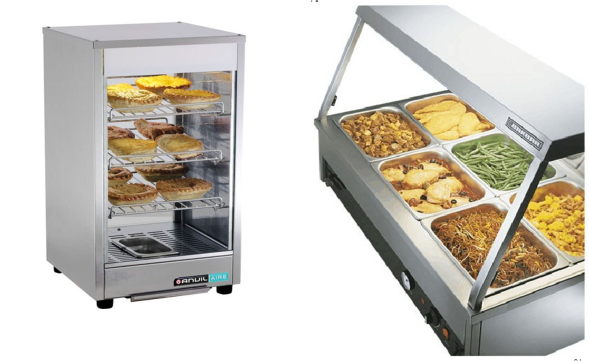 pie warmer and hot food display